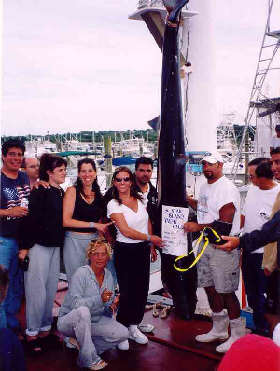 First Place in the MBCA's Shark Tournament a 330 Pound Blue Shark