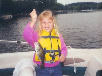 Pictured here is Alecia Orcutt of Elmira, NY. It was Alecia's first outing in her Dad's new boat