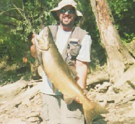 September 2003 DJ Phillips was on an exciting fishing adventure to the  Genesee River in Rochester. That's where he caught this fantastic King Salmon