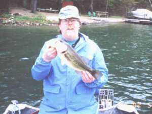 Jack Dillon with a Keuka Lake Largemouth Bass
