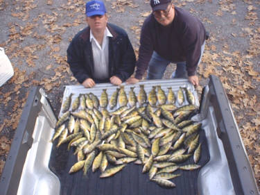 November of 2006 Raymond Martin of Elmira, NY and Dave Criss from Pine City, NY were enjoying an exciting day of perch fishing on Irondequoit Bay