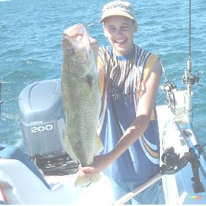 Nicholas Lynch from Springfield, Vermont with a 12 pound Lake Erie walleye