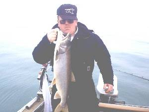Ray Martin with a nice Lake Trout from the Niagara Bar.