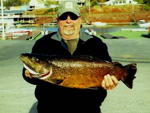 John Stevens from New Jersey caught this nice Brown Trout in Olcott NY