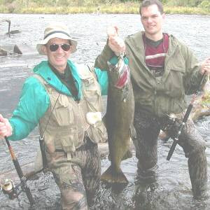 Wayne W. and Wayne A. Baci were fishing on the Salmon River in Pulaski, NY. They caught this very nice 25 pound King salmon that was 36 inches long